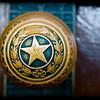 Close up of one of the door knobs in the Texas State Capitol in Austin.