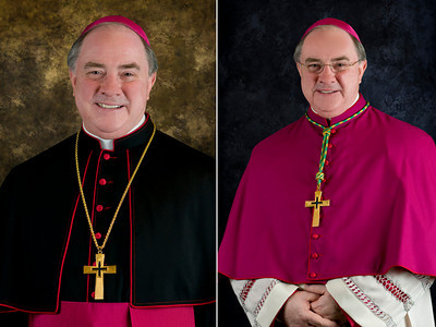 Official portraits of Bishop Wm. Michael Mulvey, STL, DD, ordained and installed as the eighth Bishop of Corpus Christi.